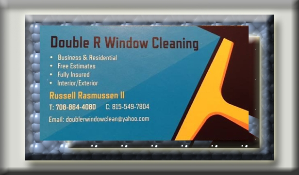 double r window cleaning business card